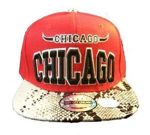 aee3ef672a4 Chicago Bulls Snakeskin Snapback