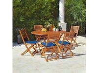 HOME Newbury 6 Seater Wooden Patio Set by Argos-323/8154-3bx-UK SELLER