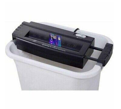 Wastebaskettrash Can Bin Mountable Home Straight-cut Credit Cardpaper Shredder