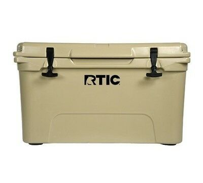 NEW 2017 DESIGN! RTIC 45 Cooler TAN Beer Bottle Storage*NO TAX*