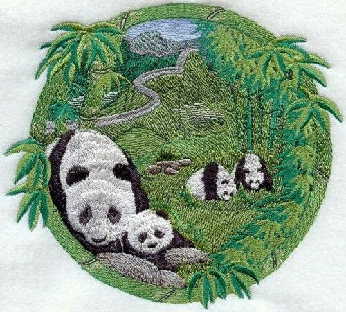 Embroidered Sweatshirt - Pandas M1670