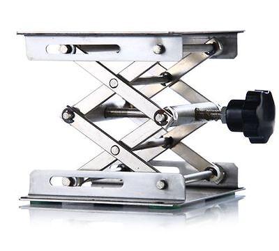 Lab Stainless Steel Lab Jack 410cmx410cmscissor Stand Lifting Table New
