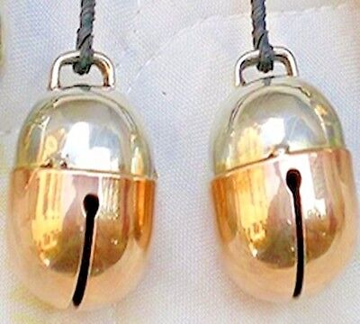 Falconry Bells Pair Two Tensile Acorn Bell (Best L-Copper & Silver) Dog and