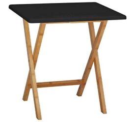 Habitat Drew Folding Bamboo 2 Seater Table - Black 464/5492 UK SELLER