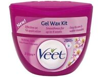 NEW and SEALED VEET GEL WAX KIT FOR NORMAL SKIN - 250ML WITH LOTUS FLOWER FRAGRANCE