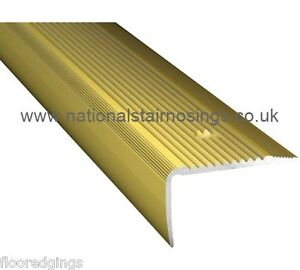 Aluminium Gold Stair Nosings Step Edge Nosing For Laminate, Wood,Carpet 35x30mm