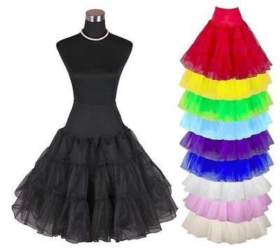 Tide Petticoat Unterrock Rockabilly 50er 60er Jahre Dirndl Röcke Stock Damen zr1