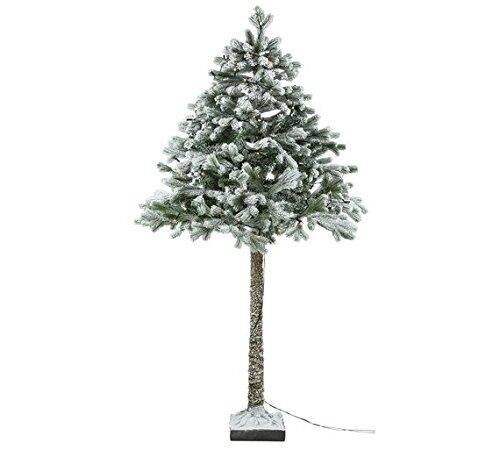 Brand New Collection 6ft Snowy Half Christmas Tree In