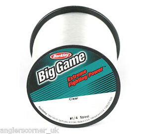 Berkley big game clear mono fishing line ebay for Big game fishing line
