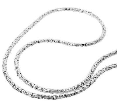 Ø 2,3mm Königskette rund, Kette L38-100cm 925 Silber (08)