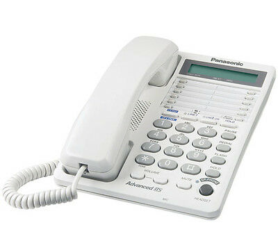 2 Line Corded Integrated Phone (Panasonic KX-TS208W 2-line Integrated 16-Digit LCD Corded)