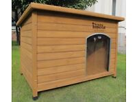 Extra Large Insulated Wooden Norfolk Dog Kennel - Brand New