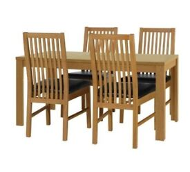 Ex display Penley Extendable Table & 4 Paris Chairs - Chocolate