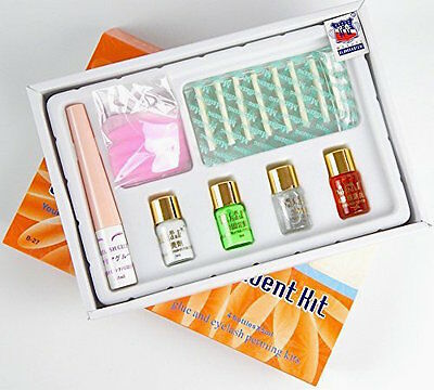 Pro 7 in 1 Eyelash Lashes Curl Perming Curler Rod Glue Perm Box Kit Full Set B27