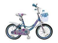 "brand new girls bike 12""hearts and flowers"