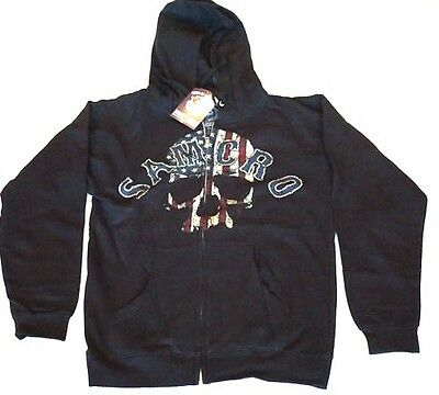 Sons Of Anarchy Mens Hoodie Samcro Red White Blue Zippered Jacket Nwt Small
