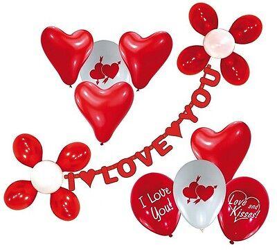 I love you Girlande Herz Ballons Liebe Valentinstag Schmuck (I Love You Ballons)