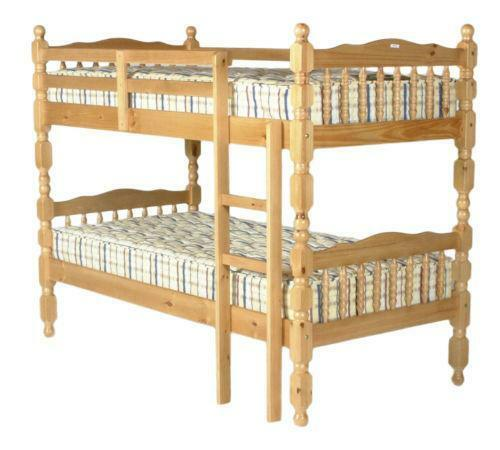 pine triple bunk beds ebay. Black Bedroom Furniture Sets. Home Design Ideas