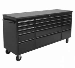BRAND NEW! 6' -  15 DRAWER BLACK WORKBENCH TOOL BOX 7215PC