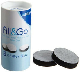 NEW~Genuine BRITA Fill and Go 8 Filter Disc Replacement Pack ~8 Weeks Supplemen. 10 available)