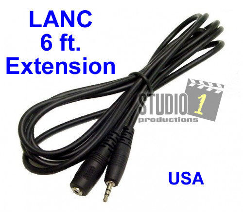 6 ft LANC Remote Extension Cable - For all LANC controllers - USA Seller