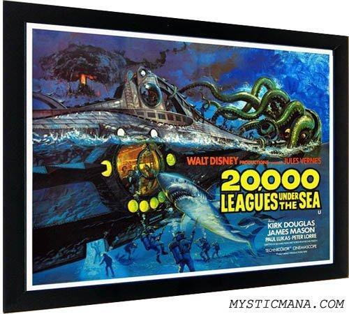 20000 Leagues Under the Sea Framed Movie Poster James Mason Kirk Douglas Peter L