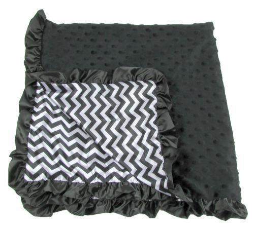 black and white baby blanket ebay. Black Bedroom Furniture Sets. Home Design Ideas