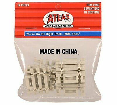 Flex Track End Ties - Atlas #599  Code 83 Concrete Flex Track End Ties - HO Scale