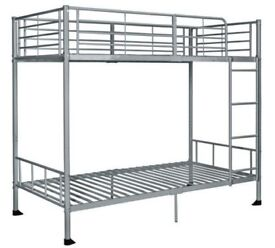 Argos Home Maddison Single Bunk Bed Frame - Silver-805/8906-2box-UK SELLER