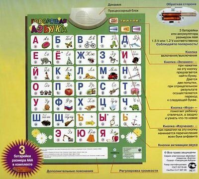 Russian Alphabet Talking Poster NEW!!! Never used! In box! SALE !!!!