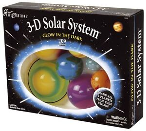 3-D Solar System- Glow In The Dark Planets