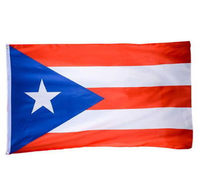 PUERTO RICAN FLAG OF PUERTO RICO 3 X 5 FEET WITH BRASS GROMMETS INDOOR OUTDOOR