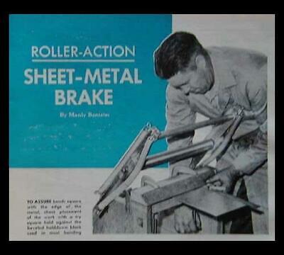 18 Sheet Metal Brake Roller Action 1964 Howto Build Plans