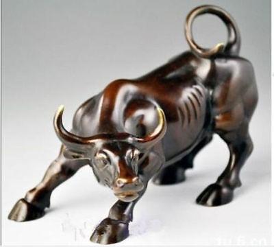Big Wall Street Bronze Fierce Bull OX Statue  13 cm * / 5.12 inches