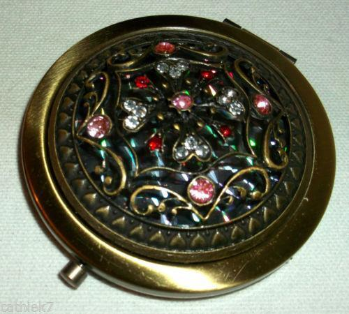 Jeweled Compact Mirror Ebay