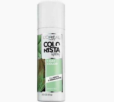 L'Oreal Paris Colorista Temporary Hair Dye Color 1-Day Spray #MINT40 Highlights - Hair Dye Spray Temporary