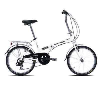 Bicicleta Plegable CARATT C170 Blanco Compacto Aluminio Nuevo 6 Vitamina 20