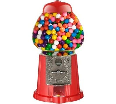 15 in. Old Fashioned Vintage Classic Candy Coin Gumball Machine Bank Dispenser