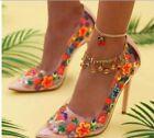 PINK Floral Pumps, Classics Heels for Women