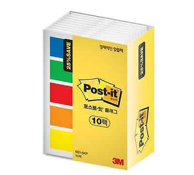 3M Post-it Flag Office Value Pack 683-5KP 10 Bookmark Point Sticky 1000 flags