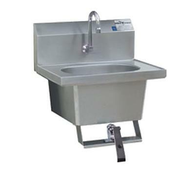 Eagle Group Hsa-10-fk-x Ss Wall Mount Hand Sink With Faucet Knee Pedal
