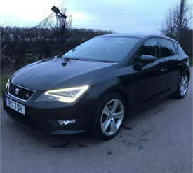 2013 63 SEAT LEON 2.0 TDI FR (TECH PACK) - 5DR (START/STOP) DIESEL (BLACK) - FULL SERVICE HISTORY