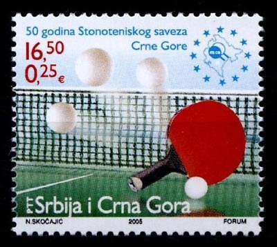 Tisch-Tennis. 50J. Montenegrinischer Tischtennisverband. 1W. Jugoslawien 2005