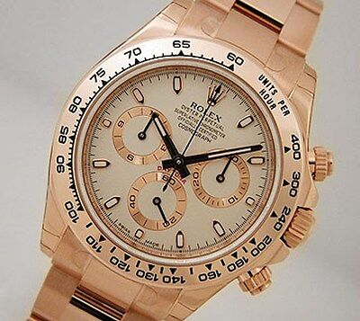 Rolex Cosmograph Daytona 116505 Everose Gold Oyster Ivory Index Dial 40mm Watch