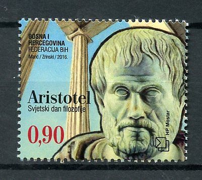 Bosnia & Herzegovina 2016 MNH World Philosophy Day Aristotle 1v Set Stamps