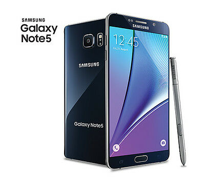 Samsung Galaxy Note 5  SM-N920T (Latest Model) - 32GB - Black T-mobile  Grade C