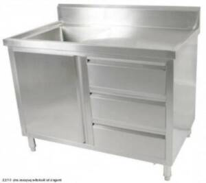Fed Kitchen Tidy Cabinet With Left Sink 700mm Deep SC-7-1200L-H