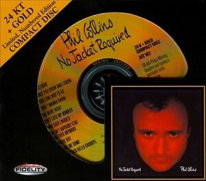 No-Jacket-Required-Phil-Collins-CD-Feb-2011-Audio-Fidelity-24-KARAT-GOLD