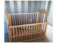 Cosatto drop side cot with Natural Coir Mattress