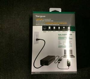 Targus Laptop Charger with USB Fast Charging Port for Smartphone